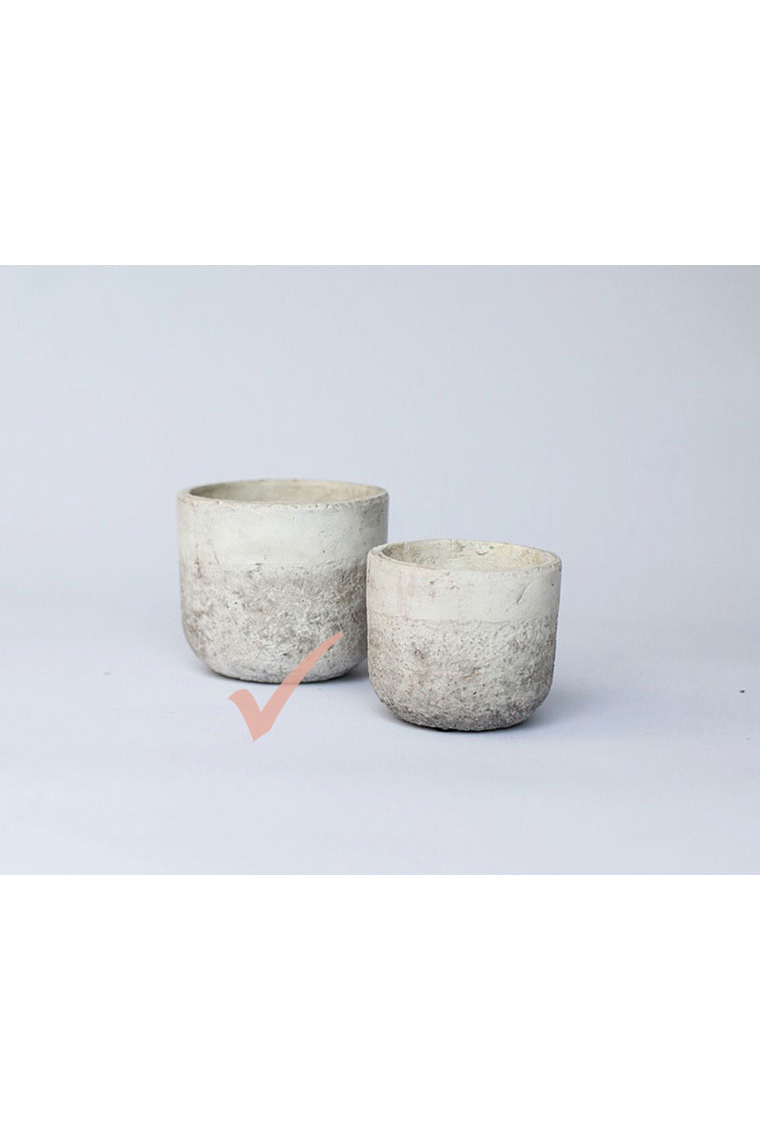Large Two Tone Pots