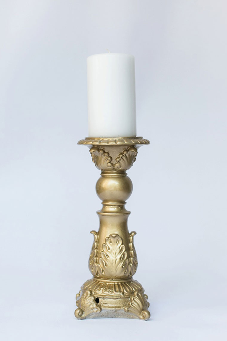 Large Resin Candlestick