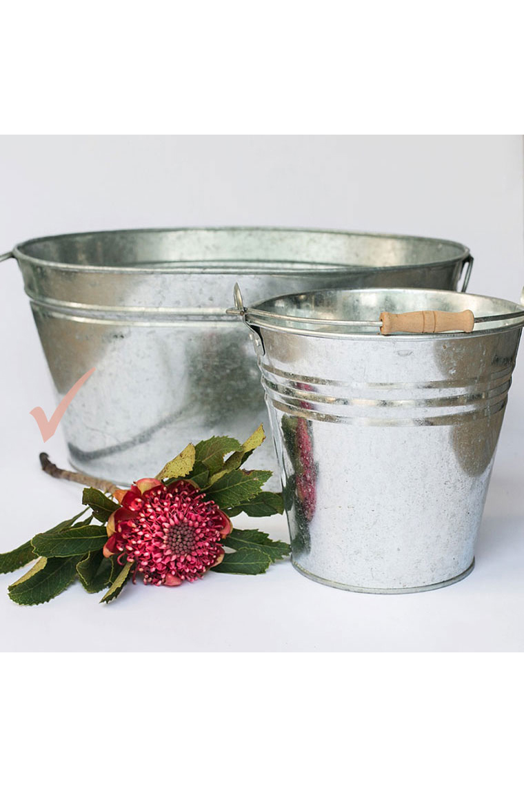 Large Silver Tub