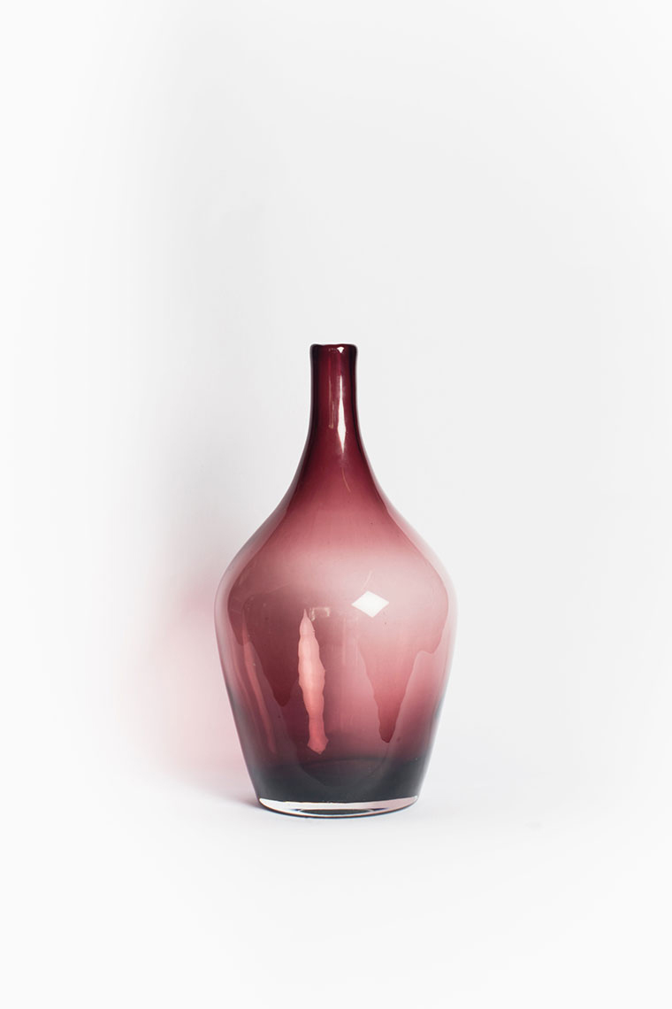 Mauve Bottle Vase