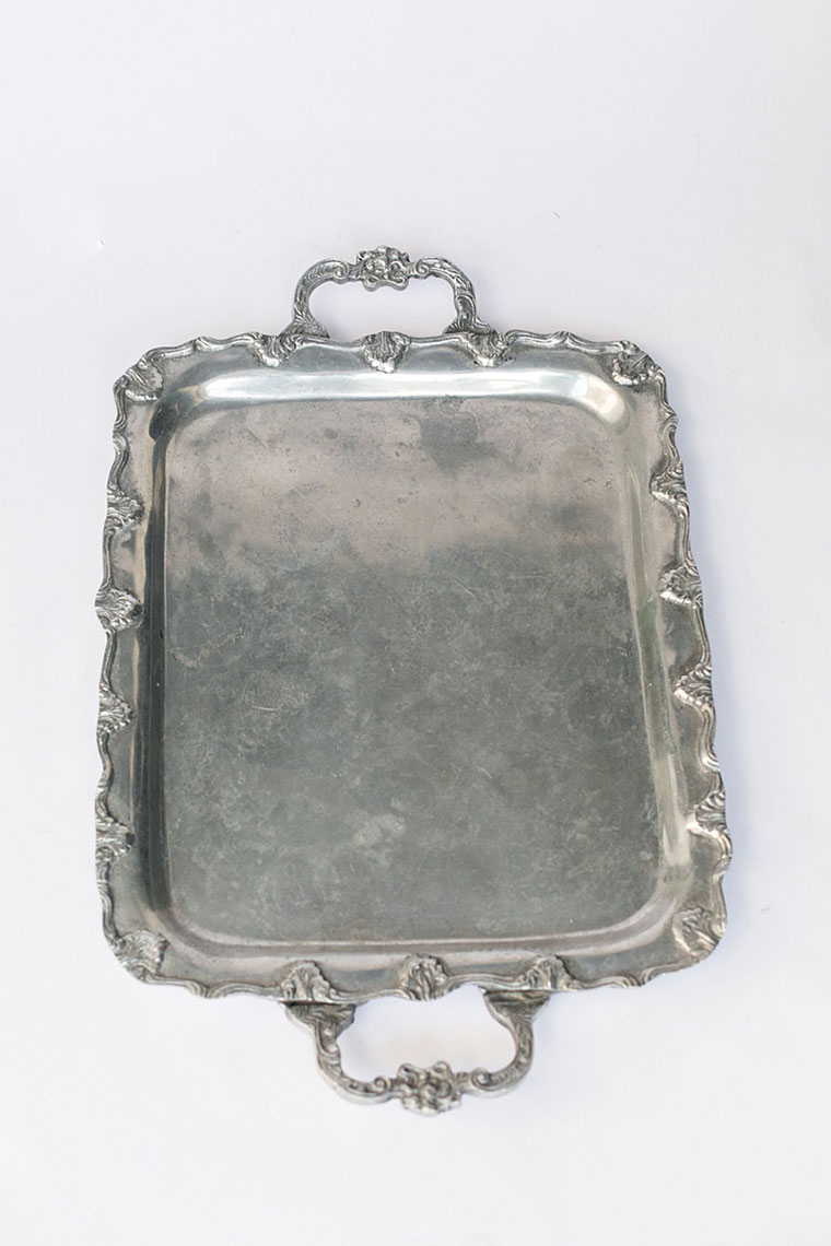Rectangle Pewter Tray