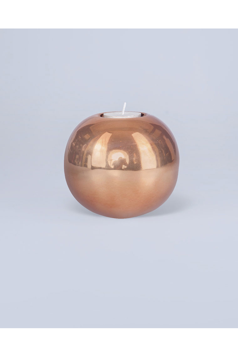 Rose Gold Round Tealight Holder