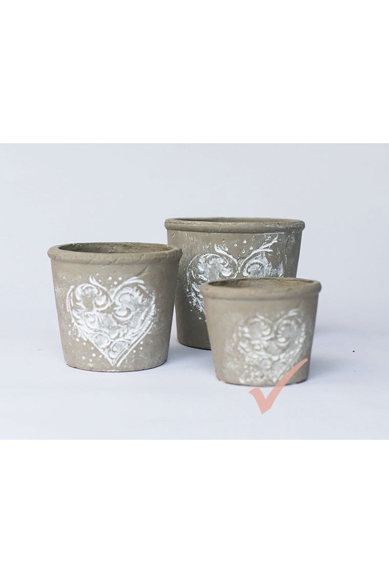 Small Taupe Pottery