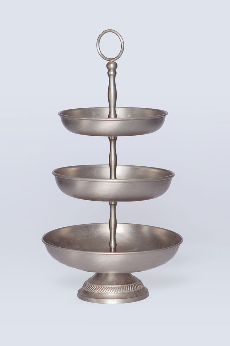 Vintage Silver Tier Cake Stand